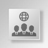 internationales Geschäft 3D Knopf-Ikonen-Konzept Stockbilder