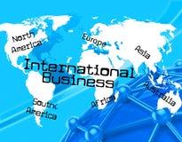 Internationales Geschäft stellt über The Globe und Ländern dar Lizenzfreie Stockfotos
