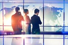 Internationales Geschäfts- und Teamwork-Konzept lizenzfreie stockfotos