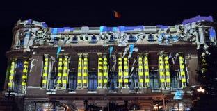 Internationales helles Festival Bukarests stockbilder