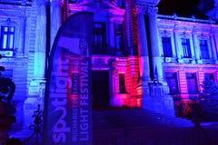 Internationales helles Festival Scheinwerfer-Bukarests lizenzfreies stockfoto