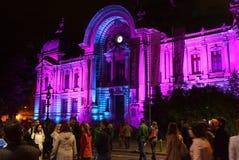 Internationales helles Festival Scheinwerfer-Bukarests stockbilder