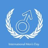 Internationales Men& x27; s-Tageshintergrund Lizenzfreies Stockfoto