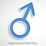 Internationales Men& x27; s-Tageshintergrund Stockfoto