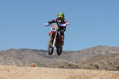 Internationales Motocross Crevillent stockfoto