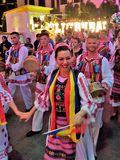 Internationales multikulturelles Festival in der Dubai-Stadt-Trittfläche Lizenzfreies Stockbild