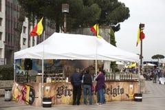 Internationales Straßenlebensmittelfestival ist eine der populärsten FO Stockfotos