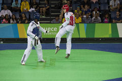 Internationales Taekwondo-Turnier - Rio 2016 - USA gegen BOTTICH Lizenzfreies Stockfoto