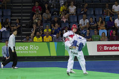Internationales Taekwondo-Turnier - Rio 2016 - USA gegen BOTTICH Stockfotos