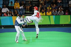 Internationales Taekwondo-Turnier - Rio 2016 - USA gegen TUNESIEN Stockfotografie