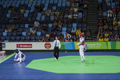 Internationales Taekwondo-Turnier - Rio 2016 - USA gegen TUNESIEN Lizenzfreies Stockbild