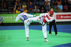 Internationales Taekwondo-Turnier - Rio 2016 - USA gegen TUNESIEN Lizenzfreies Stockfoto