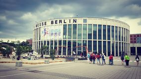 Internationales Turnfest Berlin 2017 de Messegelände Images stock