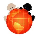 internationality 2 младенцев Стоковые Фото