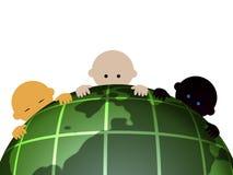 internationality 3 младенцев Стоковая Фотография
