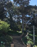 The internationally recognized peace symbol, at Buena Vista Park, 2,. As widely recognized as the peace symbol is, or this current one, it`s origins only goes Royalty Free Stock Photos