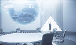 Internationell affär och futuristiskt begrepp Royaltyfria Foton