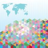 Internationell affärsöversiktsbakgrund royaltyfri illustrationer