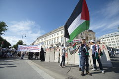 Internationell Al Quds dag 2015-Vienna Arkivfoto