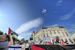 Internationell Al Quds dag 2015-Vienna Arkivbild
