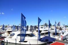 Internationell båtmässa 2013 för fristadliten vik Arkivfoto
