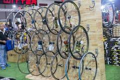 Internationell Bangkok cykel 2017 Den största cykla cykelexpon i Thailand, den populära trenden av att cykla och cykeln för farsa Fotografering för Bildbyråer