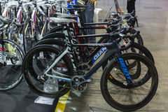 Internationell Bangkok cykel 2017 Den största cykla cykelexpon i Thailand, den populära trenden av att cykla och cykeln för farsa Royaltyfria Foton