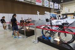 Internationell Bangkok cykel 2017 Den största cykla cykelexpon i Thailand, den populära trenden av att cykla och cykeln för farsa Arkivbilder