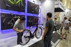 Internationell Bangkok cykel 2017 Den största cykla cykelexpon i Thailand, den populära trenden av att cykla och cykeln för farsa Royaltyfri Bild