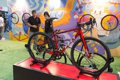 Internationell Bangkok cykel 2017 Den största cykla cykelexpon i Thailand, den populära trenden av att cykla och cykeln för farsa Arkivbild