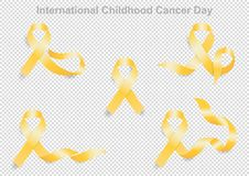 Internationell barndomcancerdag 15 Februari stock illustrationer