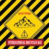 Internationell bergdag stock illustrationer