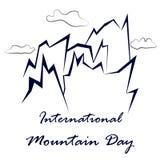 Internationell bergdagvektor royaltyfri illustrationer