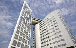 Internationell brottmålsdomstol i Haag Fotografering för Bildbyråer