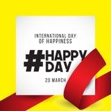 Internationell dag av illustrationen för lyckavektordesign royaltyfri illustrationer