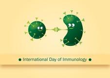 Internationell dag av immunologi stock illustrationer