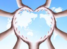 Internationell dag av kooperativbegreppet: Fridsam enhet och samarbete arkivfoton