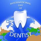 Internationell dag av tandläkaren Happy Dentist Day Arkivfoto
