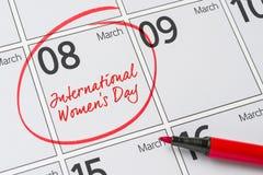 Internationell dag för kvinna` s Royaltyfria Foton