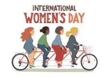Internationell dag för kvinna` s vektor illustrationer