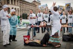 Internationell dag mot drogmissbruk och olaglig människohandel Royaltyfria Foton