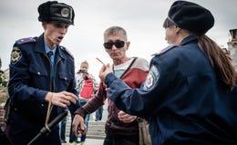 Internationell dag mot drogmissbruk och olaglig människohandel Fotografering för Bildbyråer