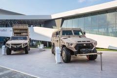 Internationell försvarutställning i Abu Dhabi Arkivbilder