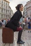 Internationell festival av gatateatrar ULICA i Cracow_Kamchatka, Spanien Royaltyfri Bild