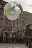 Internationell festival av gatateatrar ULICA i Cracow_Opening Arkivfoto