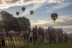 Internationell Fiesta för ballong för varm luft i bristol Arkivfoton