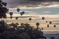 Internationell Fiesta för ballong för varm luft i bristol Arkivfoto