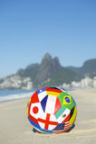 Internationell flaggafotboll Rio Brazil Arkivbilder