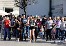 Internationell Flashmob dag av Rueda de Kasino, Arkivbild