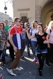 Internationell Flashmob dag av Rueda de Kasino, Royaltyfri Bild